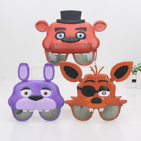 Wholesale FNAF Mask glasses Five Nights At Freddy s freddy foxy bonnie chica figure toys party supplies party Favor