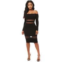 d335b115988 Kaufen Sie im Großhandel Langarm Schlauch Kleid 2019 zum verkauf aus ...