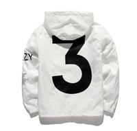 doppelgewebe großhandel-Jacke kanye GD ist kostenfrei für Männer Jacken der Frauen der gleichen Windjacke Gewebe der doppelten Schicht und hohe Qualität