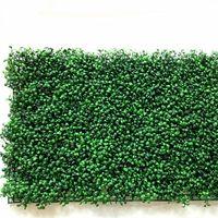пластиковые ограждения завода оптовых-40x60cm зеленая трава искусственный газон растения сад орнамент пластиковые газоны ковер стены балкон забор для домашнего декора Decoracion
