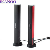 usb ses çubuğu toptan satış-IKANOO N12 Usb Dizüstü Taşınabilir stereo Hoparlör Ses Soundbar mini USB dizüstü pc için taşınabilir hoparlörler Ses Çubuğu Hoparlörler sıcak yeni