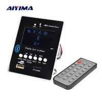 tablero receptor al por mayor-Aiyima LED Lyric Display Bluetooth Audio MP3 Decoder Board Reproductor de MP3 Decodificador de módulo SD USB WAV WMA AUX FM
