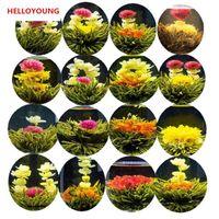 Wholesale blooming flowers tea - C-TS073 Handmade Blooming Flower Tea 16 Kinds Ball Blooming Flower Herbal tea Artificial Flower Tea Products 130g