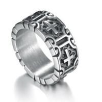 cruces de jesús al por mayor-Diseñe anillos de joyería para hombres de acero inoxidable jesus cruz anillos clásicos al por mayor moda caliente libre de envío