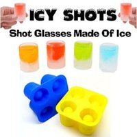 Wholesale Tray Mold Cup Ice Cube - Bar Party Drink Ice Tray Shape Ice Cube Freeze Mold Maker Mould You Can Eat 4 Cup Ice Mold Cup CCA9297 100pcs
