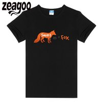 tilki gömlekli kadın toptan satış-Zeagoo FOX Casual Katı O-Boyun Kısa Kollu T-Shirt Kadın 6299