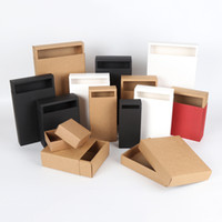 Wholesale Wholesale White Candle Boxes - 30pcs 20sizes Brown White Black Kraft Paper Gift Box 10x8x6cm for Cosmetic Bottle valves tubes Craft Candle Packing Boxes