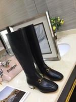 ingrosso scarponi da combattimento nero-Cristalli Tacchi alti da donna Stivali alti da martin scarpe 2018 Moda da donna neri Stivali da moto in pelle Scarpe da donna Desert Boot da combattimento