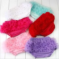 Wholesale toddlers lace underwear for sale - Group buy Baby Lace Shorts Kids Tulle Bloomers Lovely Baby Ruffles PP Pants Toddler Cotton Silk Bow Skirt Shorts Infant Diaper Cover Underwear YL278
