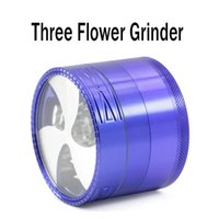Wholesale layer detector for sale - Group buy Three Flower Grinder MM Diameter Grinder Layers Aluminum Alloy High Quality Tooth Wind Fan Mill Smoke Detector