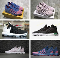 Wholesale genuine cultured pearls - 2018 New Kevin Durant 10 NL EP All Stars Aunt Pearl Men's Basketball Shoes for KD X 10s City Finals Pink White Sports Sneakers Size 40-46