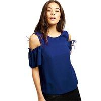 ingrosso camicia chiffona della corea-La camicetta stampata solida della camicia della camicetta stampata chiffon solido di estate di modo supera le signore eleganti delle camicette della Corea di formato più Blusas femminile