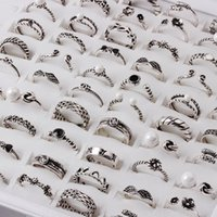 Wholesale jewellery for lovers - Hot sale 925 silver Jewellery rings fashion creative handmade ring geometry opening ring For Lovers T3C0070