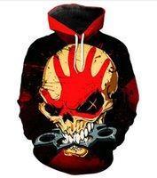 finger hoodies großhandel-Fünf Finger Death Punch 3D gedruckt Pullover Hoodies / Kapuzen-Sweatshirts für Frauen / Männer