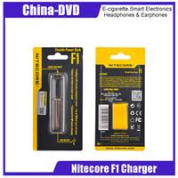 f1 ladegerät großhandel-Original Nitecore F1 Ladegerät Smart 18650 Intelligent Battery USB Chargers Fit 18650 18350 Akkus Vs Nitecore D4 E-Zigaretten Ladegeräte
