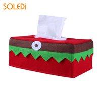 Wholesale hotel tissue - Creative Tissue Box Napkin Storage Case Christmas Table Decoration Hotel