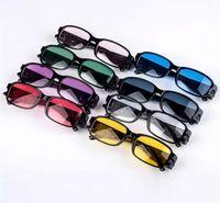 gafas de sol lejanas al por mayor-Fuerza Multi LED lente de gafas de lectura luz de visión nocturna de los vidrios de entre el LED que enciende los ojos Gafas de lectura 1500pcs