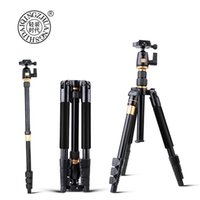 Wholesale tripod camera professional online - Professional Camera Tripod QZSD Q555 Aluminium Alloy Camera Video Monopod Extendable Tripod With Quick Release Plate Stand