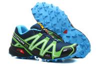 Wholesale fabric apples - Salomon Speed cross 3 CS III Deep Blue Apple Green Men Outdoor Crosspeed 3 Running shoes sneakers