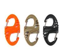 bracelete de escalada venda por atacado-Misturar Cores S-Biner Clipe Chaveiro Para Paracord Pulseira de Mosquetão 8 Saco de Forma de Peças de Escalada de Caminhada Caminhada Fivela de Granel Quickdraw Ferramenta EDC Camping