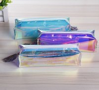 Wholesale New term Clear PVC Cute School Supplies Pencil Case Tassel Kawaii for Girls School Cosmetic Bag Women Office Supplies