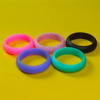 Wholesale ring comfortable online - Women Men Silicone Ring Multi Size Solid Color for Wedding Band Anniversary Gift Rubber Flexible Comfortable Rings High Quality fb Y Z