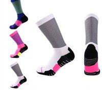 мужские полосатые носки оптовых-Повседневная мужчины носки чулочно-носочные изделия хроматическая полоса хлопчатобумажные носки мода мужской дизайн носки мода поддержка FBA Drop Shipping G504S