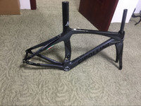 Wholesale Road Bike 59cm - DIY logo bicycle carbon frame T1100 1K road bike frame BOB black carbon frame torayca carbon bike frameset can paint any logo frames