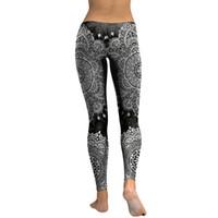 dijital baskı leggins toptan satış-Kadın Tayt Mandala Çiçek 3d Dijital Baskı Ince Pembe Spor Kadın Leggins Kalem Pantolon Kadın Moda Yeni
