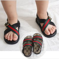 Wholesale american canvas shoes - 2018 children's new summer ribbon children's shoes boys and girls European and American fashion sandals sports open toe baby sandals and sli