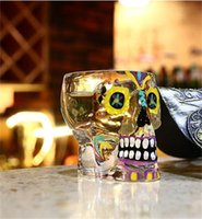 Wholesale X Lens Led - Originality Glittering Pure Handmade Personality Skull Wine Glass Crystal Transparent Pretty Texture Lead Free Glass Body 15 8xr X