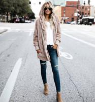 Wholesale women s warm clothing for sale - Women Clothes Winter Faux Fur Jacket Loose Fashion Hooded Coat Big Pocket Soft Warm Coat Plus Size XL XL