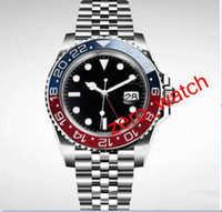 Wholesale black makers - Latest Luxury High Quality Watch Factory Maker Asia 2813 Movemen 40mm Vintage GMT 1675 Pepsi Sapphire Mechanical Automatic Mens Watches