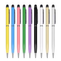 blackberry ball großhandel-Qualität 2 in 1 Kugelschreiber Schreibkopf-Noten-Feder für Ipad iTouch Iphone 6 5 für Mobiltelefon-beweglichen Tablette PC 500pcs / lot