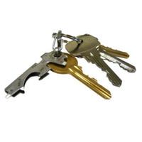 clip ouvre-bouteille achat en gros de-Porte-outil multifonctionnel 8 en 1 ouvre-bouteille porte-clé gadget accrochage extérieur boucle clip clé en acier inoxydable porte-clés