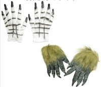 Wholesale diy costume online - Wolf Gloves Halloween Party DIY Cosplay Scary Creative Wolves Gloves Halloween