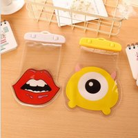 Wholesale huawei phone cartoon case - Waterproof Bag Diving Rafting Sealed Bag Swimming Pouch Cases Cover for Cartoon mobile phone water iPhone Samsung Huawei Xiaomi