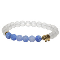 Wholesale colored beads for bracelets for sale - Group buy Magic Fish natural stone bead buddha yoga bracelets for women men jewelry mm colored weathered agates bracelet elephant bangles