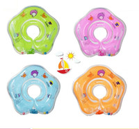 Wholesale baby tube pool resale online - Newborn inflatable neck swimming ring baby swim floats adjusted baby Inflatable Tube Ring Safety swim pool toy