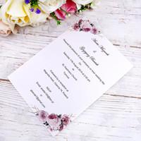 einladungskarten designs großhandel-Persönliches Design Anpassen Beliebiges Innenblatt für das Hochzeitsfest Einladungskarten (
