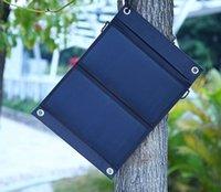 células solares dobráveis venda por atacado-Dupla USB Energia Solar Celular Bancos De Energia Portátil Ao Ar Livre 15 W À Prova D 'Água de Carregamento Solar Dobrável Tampa Sacos 3 gerneration SunPower