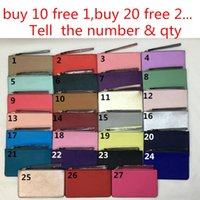 Wholesale Wholesale Brand Purses - Brand New leather wallets wristlet women purses clutch bags zipper Card bag US Brand