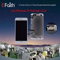 satılık iphone lcd ekranlar toptan satış-Sıcak Satış iPhone 7 Için LCD Ekran Artı 5.5 inç Dokunmatik Ekran Digitizer Çerçeve Çerçevesi + Ön Kamera ile Tam Meclisi