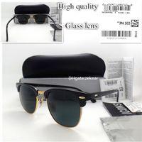Wholesale slimming glasses resale online - Top Quality Slim Circle Sunglasses Women Men Sunglasses UV400 Metal Hinge Frame Eyewear MM Plank Eyeglass Trend Vintage Mirror Box Case