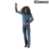 modelo de microfone venda por atacado-Bob Marley Figura Música Legends Jamaica Cantor Microfone Pvc Action Figure Collectible Toy Modelo 18 cm