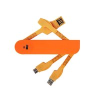 téléphone en forme de pomme achat en gros de-5 couleurs 3 en 1 câble de chargement USB Swiss Knife Shape Data Câble de charge Micro USB Ports Dispositif pour téléphone mobile, tablettes