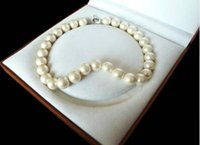 ingrosso collana del mare di cuore-Spedizione gratuita Rare Huge 12mm Genuine South Sea Cream White Shell Collana di perle Cuore chiusura 18 ''