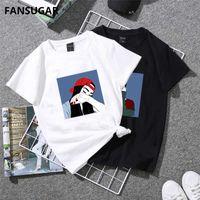 Wholesale Japanese Slimming Shirt - FANSUGAR Vogue Casual Funny Women's T-shirt short sleeve Japanese Kawaii Cartoon character Slim Tee Shirt Female 2018 WX8137