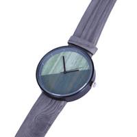 relojes de imitación de lujo al por mayor-VANSVAR Marca Mujer Reloj Lujo Imitación Reloj de Madera Cuarzo Vintage Cuero Color de Madera V128