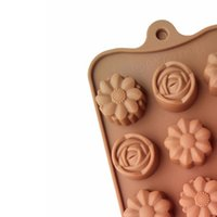 конфеты из цветного желе оптовых-Прессформа силикона полости 2pcs 15 круглая для студня шоколада и конфеты, прессформы формы цветка